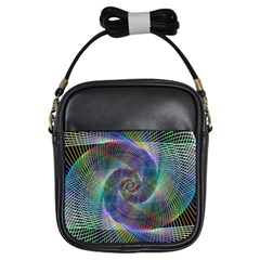 Psychedelic Spiral Girl s Sling Bag by StuffOrSomething