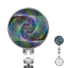 Psychedelic Spiral Stainless Steel Nurses Watch by StuffOrSomething