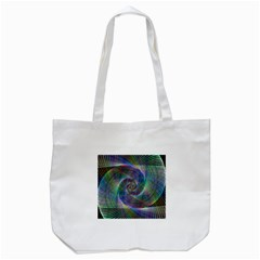 Psychedelic Spiral Tote Bag (white)
