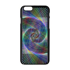Psychedelic Spiral Apple Iphone 6 Black Enamel Case by StuffOrSomething