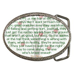 Girls Are Like Apples Belt Buckle (oval) by TheWowFactor
