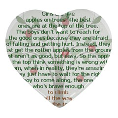 Girls Are Like Apples Heart Ornament (two Sides)