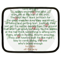 Girls Are Like Apples Netbook Sleeve (large) by TheWowFactor