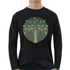 Appletree Men s Long Sleeve T Shirt (dark Colored) by TheWowFactor