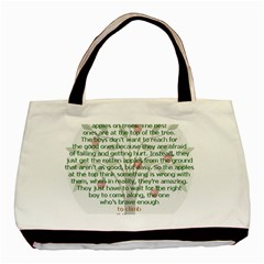 Appletree Twin Sided Black Tote Bag by TheWowFactor