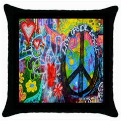 The Sixties Black Throw Pillow Case by TheWowFactor