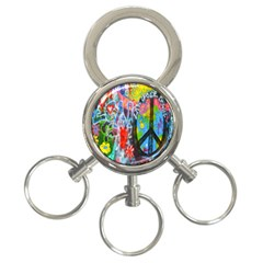 The Sixties 3 Ring Key Chain