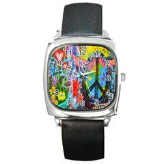 The Sixties Square Leather Watch by TheWowFactor