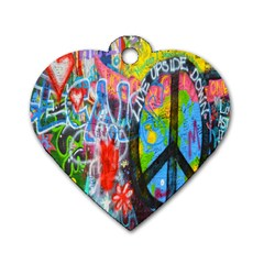 The Sixties Dog Tag Heart (two Sided) by TheWowFactor