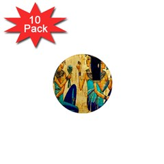 Egyptian Queens 1  Mini Button Magnet (10 Pack) by TheWowFactor
