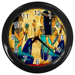 Egyptian Queens Wall Clock (black)