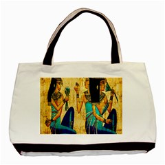 Egyptian Queens Twin Sided Black Tote Bag by TheWowFactor