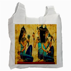 Egyptian Queens White Reusable Bag (two Sides) by TheWowFactor