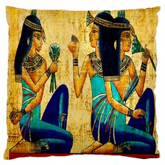 Egyptian Queens Large Cushion Case (two Sided)  by TheWowFactor