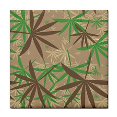 Leaves Tile Coaster by LalyLauraFLM