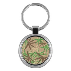 Leaves Key Chain (round) by LalyLauraFLM