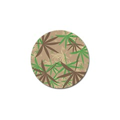 Leaves Golf Ball Marker by LalyLauraFLM