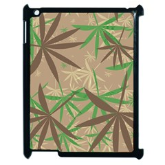 Leaves Apple Ipad 2 Case (black) by LalyLauraFLM