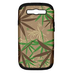 Leaves Samsung Galaxy S Iii Hardshell Case (pc+silicone) by LalyLauraFLM