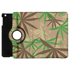 Leaves Apple Ipad Mini Flip 360 Case by LalyLauraFLM