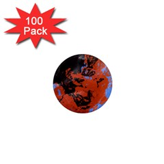 Orange Blue Black Texture 1  Mini Magnet (100 Pack)  by LalyLauraFLM