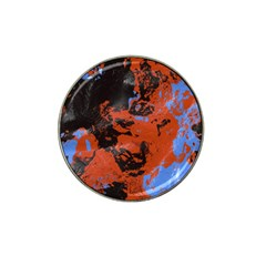 Orange Blue Black Texture Hat Clip Ball Marker (4 Pack) by LalyLauraFLM