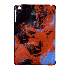Orange Blue Black Texture Apple Ipad Mini Hardshell Case (compatible With Smart Cover) by LalyLauraFLM