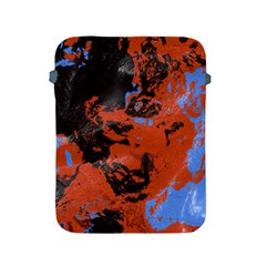Orange Blue Black Texture Apple Ipad 2/3/4 Protective Soft Case by LalyLauraFLM
