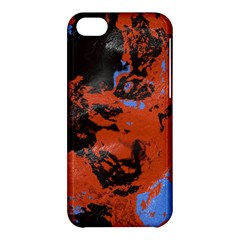 Orange Blue Black Texture Apple Iphone 5c Hardshell Case by LalyLauraFLM