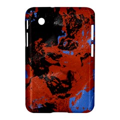 Orange Blue Black Texture Samsung Galaxy Tab 2 (7 ) P3100 Hardshell Case  by LalyLauraFLM
