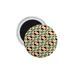 Brown Green Rectangles Pattern 1 75  Magnet by LalyLauraFLM
