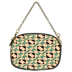Brown Green Rectangles Pattern Chain Purse (two Sides) by LalyLauraFLM