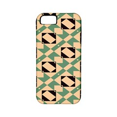 Brown Green Rectangles Pattern Apple Iphone 5 Classic Hardshell Case (pc+silicone) by LalyLauraFLM