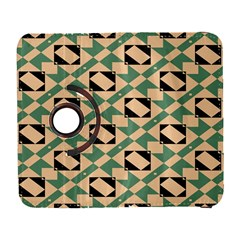 Brown Green Rectangles Pattern Samsung Galaxy S  Iii Flip 360 Case by LalyLauraFLM