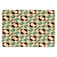 Brown Green Rectangles Pattern Samsung Galaxy Tab 8 9  P7300 Flip Case by LalyLauraFLM