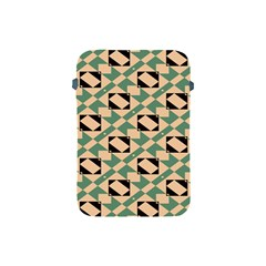 Brown Green Rectangles Pattern Apple Ipad Mini Protective Soft Case by LalyLauraFLM