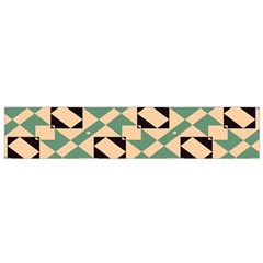 Brown Green Rectangles Pattern Flano Scarf by LalyLauraFLM