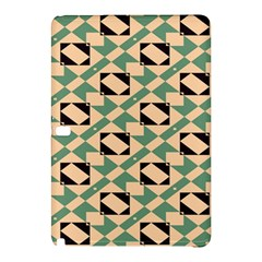 Brown Green Rectangles Pattern 	samsung Galaxy Tab Pro 12 2 Hardshell Case