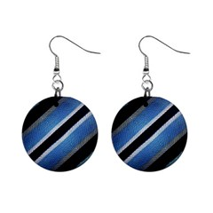 Geometric Stripes Print Mini Button Earrings