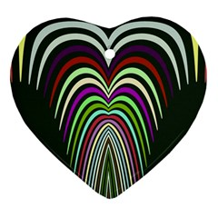 Symmetric Waves Ornament (heart) by LalyLauraFLM