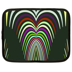 Symmetric Waves Netbook Case (large)	 by LalyLauraFLM