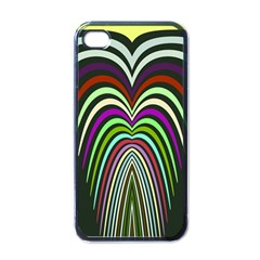 Symmetric Waves Apple Iphone 4 Case (black) by LalyLauraFLM