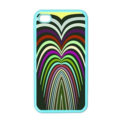Symmetric Waves Apple Iphone 4 Case (color) by LalyLauraFLM