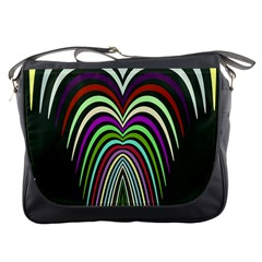 Symmetric Waves Messenger Bag by LalyLauraFLM