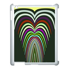 Symmetric Waves Apple Ipad 3/4 Case (white) by LalyLauraFLM