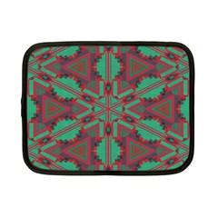 Green Tribal Star Netbook Case (small) by LalyLauraFLM
