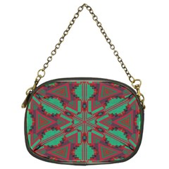 Green Tribal Star Chain Purse (two Sides) by LalyLauraFLM