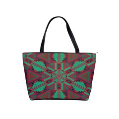 Green Tribal Star Classic Shoulder Handbag by LalyLauraFLM