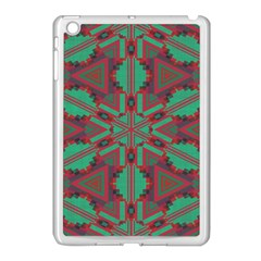 Green Tribal Star Apple Ipad Mini Case (white) by LalyLauraFLM