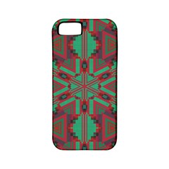 Green Tribal Star Apple Iphone 5 Classic Hardshell Case (pc+silicone) by LalyLauraFLM
